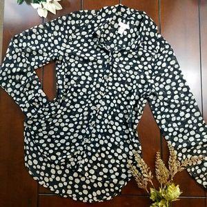Sheer Metallic Longsleeve Shirt